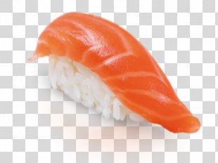 Sushi Onigiri California Roll Smoked Salmon Japanese Cuisine - Sushi PNG