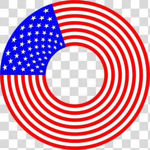 United States Circle Star Polygon Clip Art - Stripes PNG