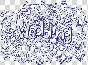 Wedding Invitation Ornament Euclidean Vector - Hand-painted Wedding PNG