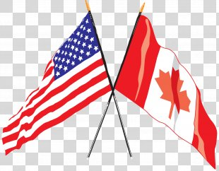 Flag Of The United States Flag Of Canada Canadian Americans - American Flag PNG