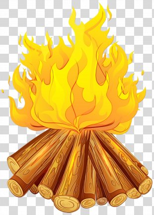 Yellow Clip Art Fire Flame - Flame Fire PNG