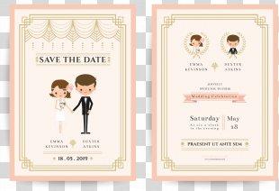 Wedding Invitation Bridegroom Illustration - Vector Wedding Invitations PNG