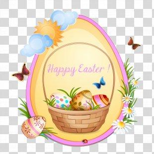 Easter Bunny Easter Egg Illustration - Happy Easter PNG