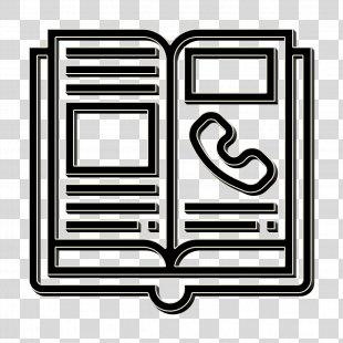 Contact Icon - Rectangle Book PNG