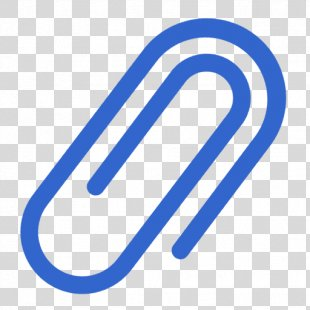 Paper Clip Email Attachment - Blue Paper Clip Icon PNG