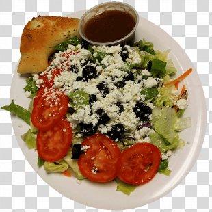 Greek Salad Hors D'oeuvre Vegetarian Cuisine Garlic Knot - Greek Salad PNG