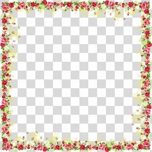 Borders And Frames Picture Frames Flower Clip Art - Flower Frame PNG