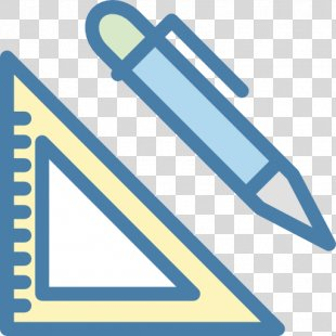Ruler Pencil Triangle - Triangle Line PNG