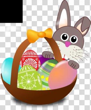 Easter Bunny Easter Parade Egg Hunt Easter Basket - Easter Egg Hunt Clipart PNG