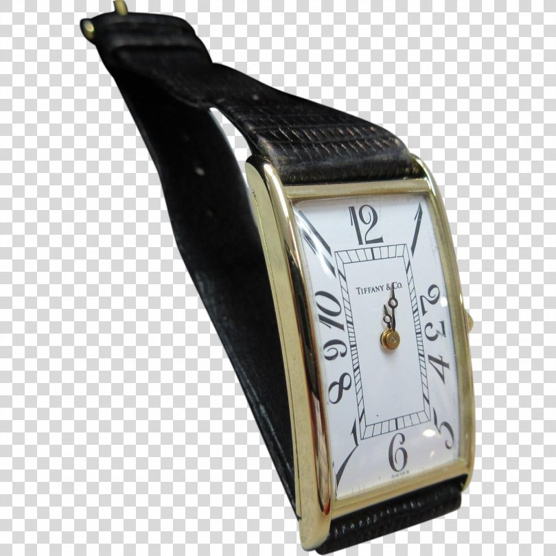 Cartier Tank Watch Strap Gold, Watch PNG