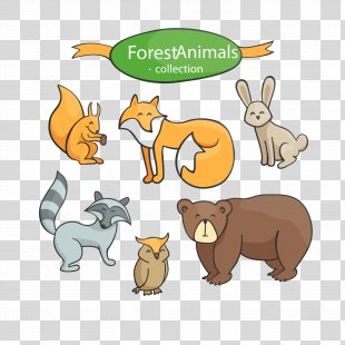 Euclidean Vector Animal Download - Cartoon Cute Animal Vector Material PNG