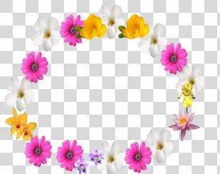 Floral Design Picture Frames Flower - Flower Border Frame PNG