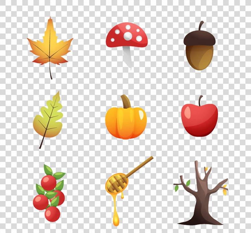 Euclidean Vector Acorn Autumn Leaf Nature, Autumn Element Icon PNG