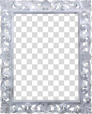Picture Frame White Pattern - White Frame PNG