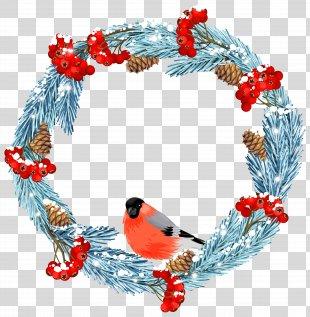 Wreath Winter Stock Illustration IStock Clip Art - Blue Winter Wreath With Bird Clip Art Image PNG