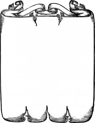 Scroll Clip Art - Scroll Border Cliparts PNG