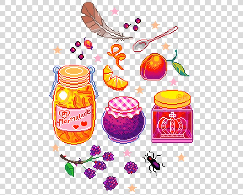 Pixel Art Concept Art, Cute-food PNG