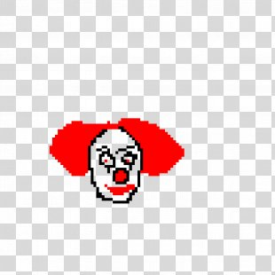 Pixel Art GIF Clip Art Drawing Image - Pennywise Stamp PNG