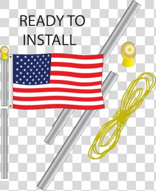 Flag Of The United States Banner National Flag Flagpole - American Flag PNG