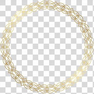 Circle Gold Clip Art - Round Gold Border Transparent Clip Art Image PNG