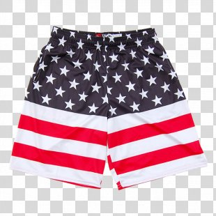 Flag Of The United States Boardshorts T-shirt - American Flag PNG