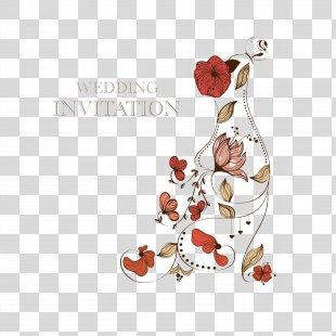 Wedding Invitation Paper Wedding Cake Greeting Card - Floral Wedding Invitation Card PNG