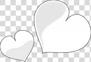 White Heart Clip Art - Black And White Heart Images PNG