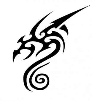 Tattoo Flash Idea Art - Tattoo Dragon PNG