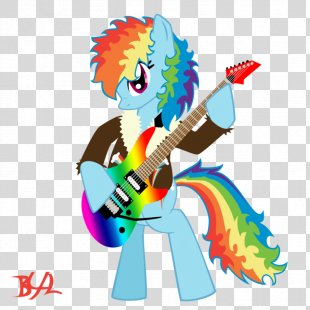 Rainbow Dash Electric Guitar My Little Pony - Rainbow PNG