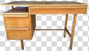 Desk Product Design Wood Stain Drawer - Desk Mockup PNG
