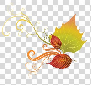 Autumn Leaf Color Clip Art - Fall Leaves Decor Clipart PNG