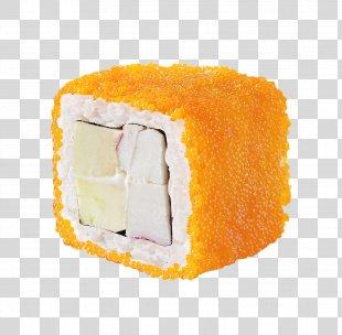 Sushi Makizushi California Roll Smoked Salmon Tobiko - Sushi PNG