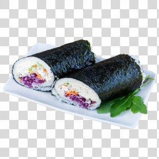 California Roll Sushi Ba Japanese Cuisine Makizushi - Sushi Burrito PNG
