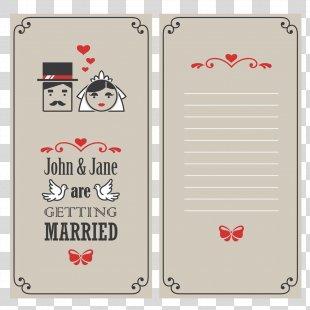Wedding Invitation Bridegroom Convite - Vector Wedding Invitation PNG