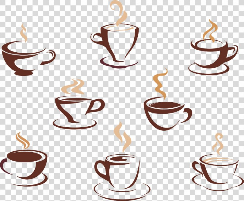 Coffee Tea Cafe Hot Chocolate, Coffee Flag Illustration Poster PNG
