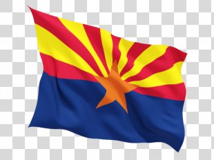 Flag Of Arizona U.S. State State Flag - Fluttering Us Flag PNG