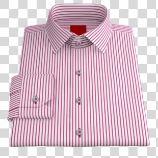 Dress Shirt Oxford Twill Pink - Stripes PINK PNG