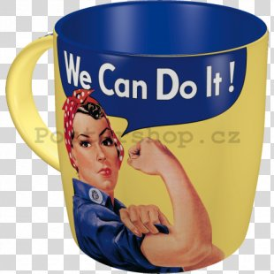 We Can Do It! Second World War Rosie The Riveter Mug - We Can Do It PNG