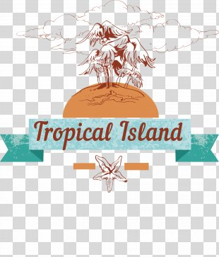 Poster Illustration - Vector Blue Island English Poster PNG