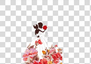 Wedding Invitation Paper Convite Marriage Flower - Hand-painted Wedding PNG
