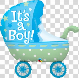 Baby Transport Infant Balloon Baby Shower Diaper - Baby Stroller PNG