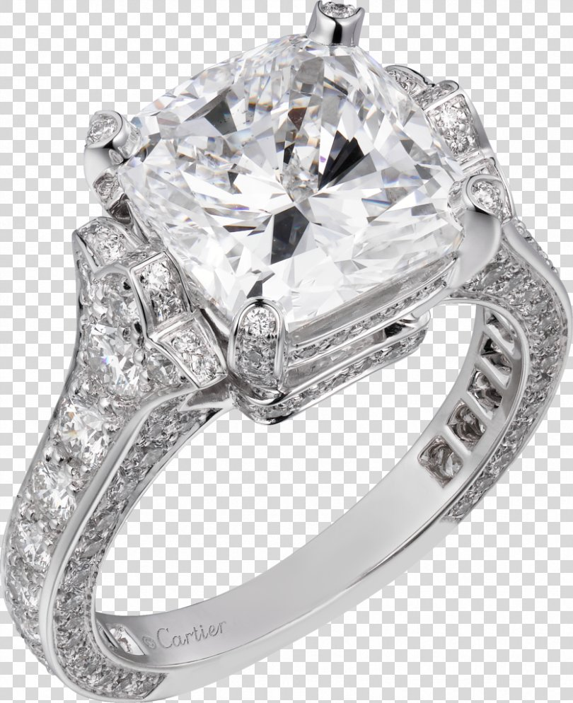 Ring Jewellery Diamond Brilliant Cartier, Ring Jewelry PNG
