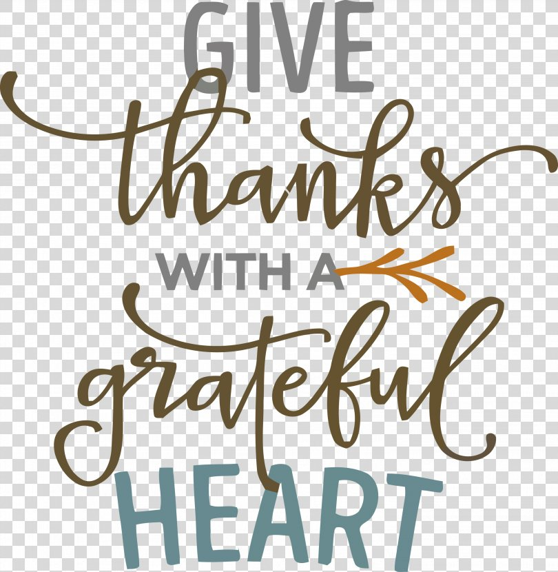 Give Thanks Thanksgving, Calligraphy Text PNG