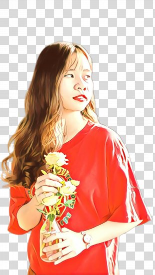 Red Costume Photo Shoot Plant - Plant Photo Shoot PNG