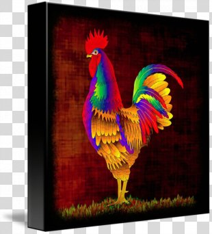 Rooster Chicken Painting Fine Art - Rooster PNG