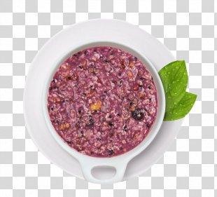 Breakfast Cereal Congee Oatmeal - Breakfast Purple Potato Oatmeal PNG