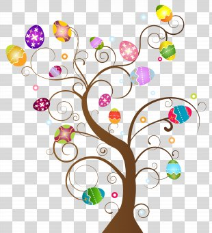 Easter Egg Tree Clip Art - Easter Egg Tree Clip Art Image PNG