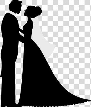 Silhouette Wedding Invitation Bridegroom - Wedding Couple PNG