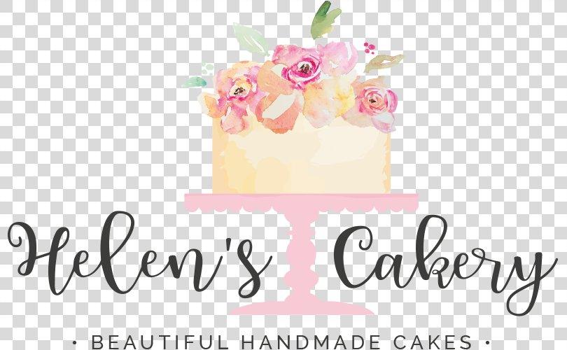 Cakery Logo Floral Design Font, Cake PNG