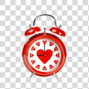 Alarm Clock Heart Table Wallpaper - Alarm Clock PNG